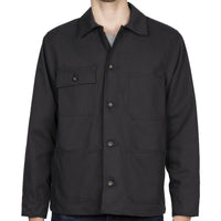 Chore Coat - Black Canvas - front