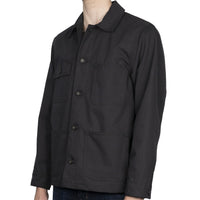 Chore Coat - Black Canvas - side