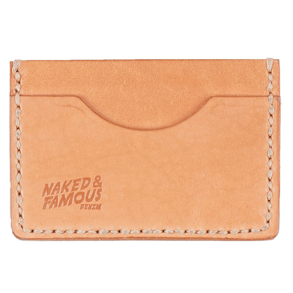 Card Case - Bovine Leather - Natural Tan - front