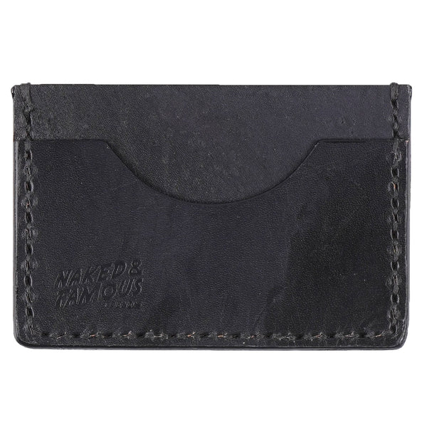 Card Case Low - Bovine Leather - Black - front