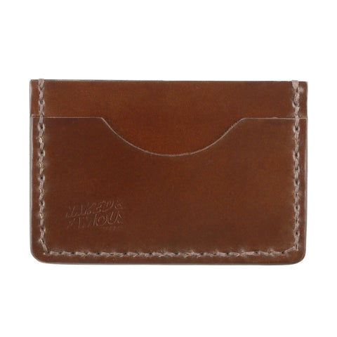 Shell Cordovan Leather Card Case - Brown | Naked & Famous Denim