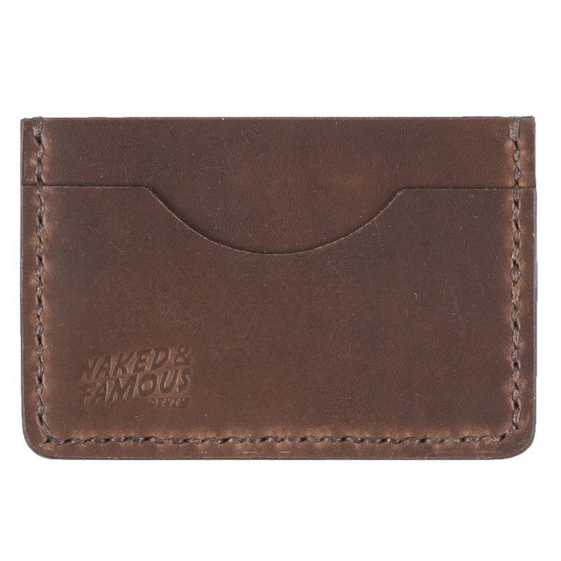 Card Case - Full Grain Leather - Burgundy