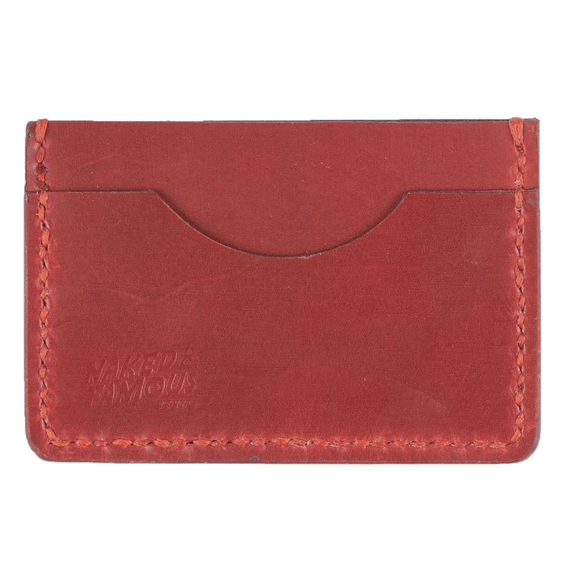 Card Case - Full Grain Leather - Red