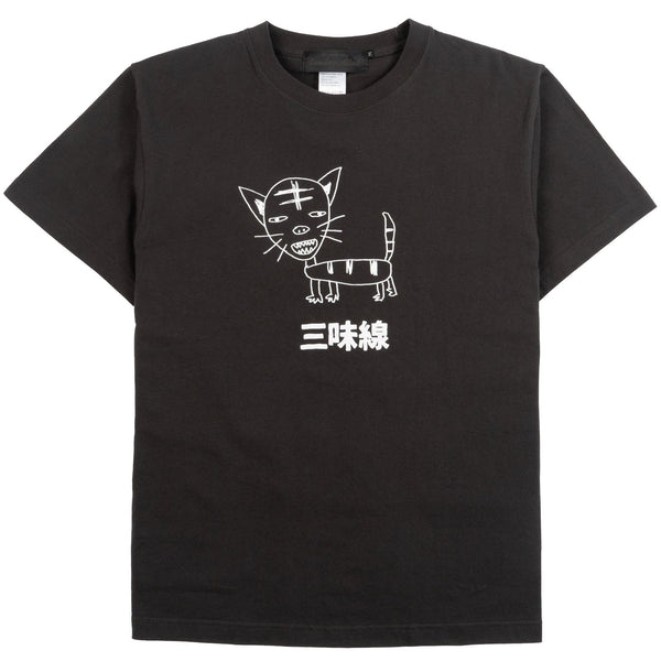 20-SAM-BK - Shamisen Cat T-shirt Black
