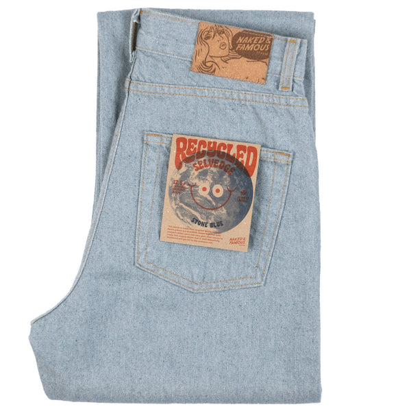 Classic - Recycled Selvedge - Stone Blue