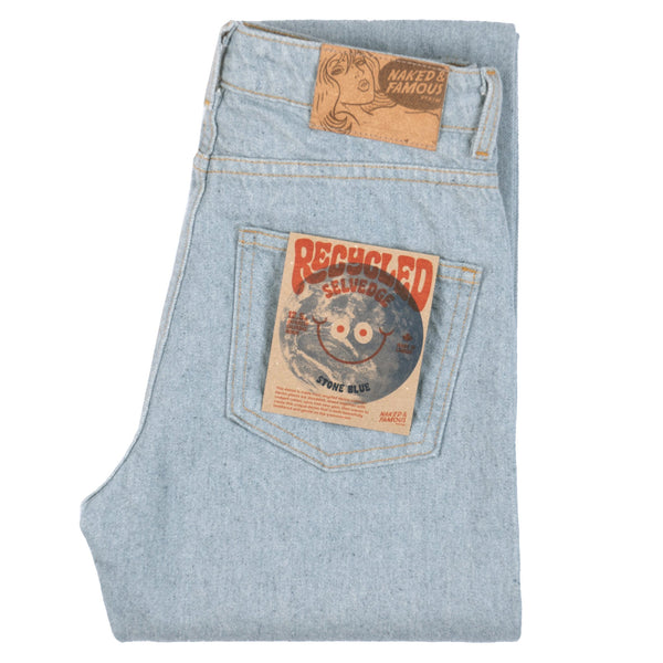 High Skinny - Recycled Selvedge - Stone Blue