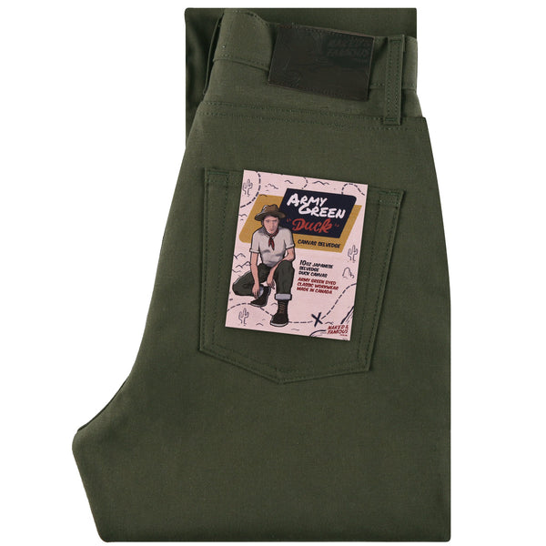 Women's - Classic - Army Green Duck Selvedge