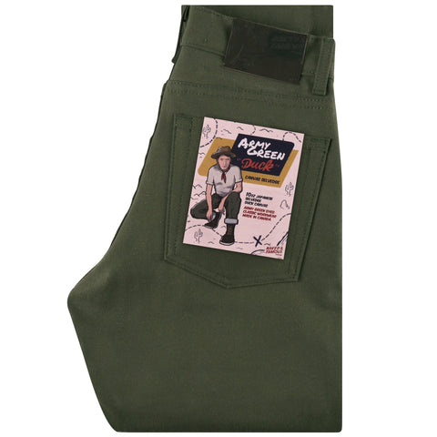 Women's - Max - Army Green Duck Selvedge