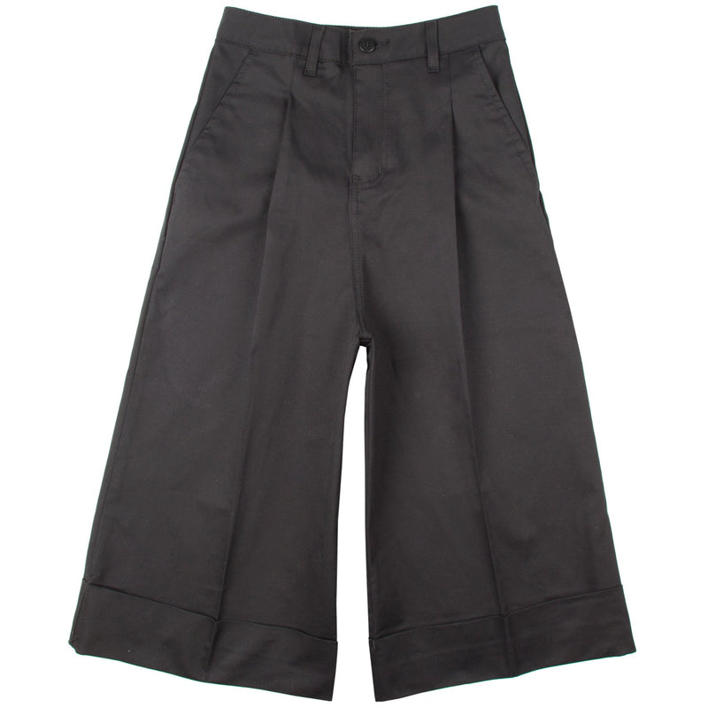 Women's - The Culottes - Black Stretch Twill Chino | Naked & Famous Denim