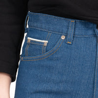 Classic - Island Blue Stretch Selvedge - coin pocket