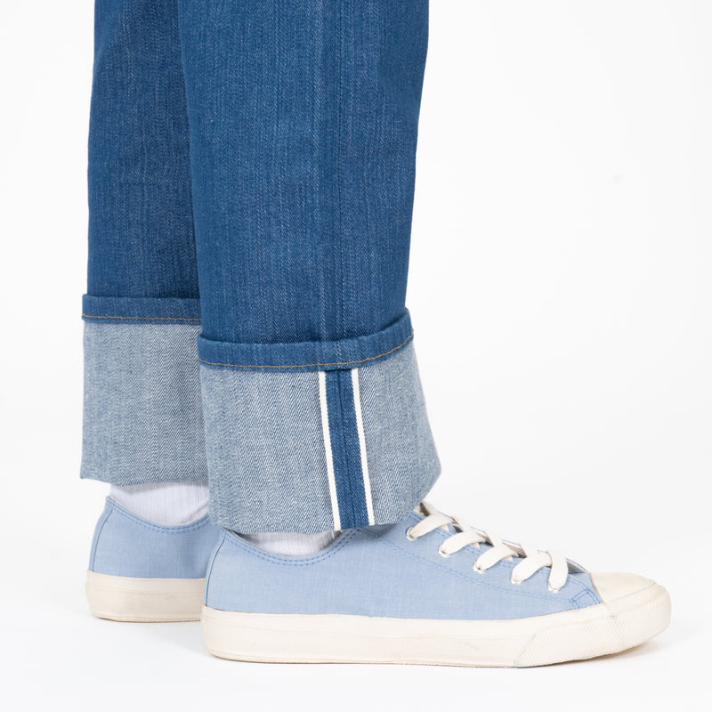 Classic - Island Blue Stretch Selvedge - cuff shot
