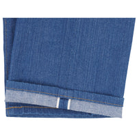 Classic - Island Blue Stretch Selvedge - hem