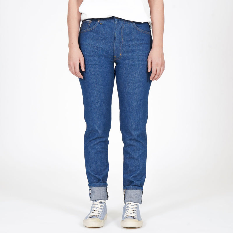 Max - Island Blue Stretch Selvedge - front shot