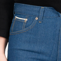 Max - Island Blue Stretch Selvedge - coin pocket shot