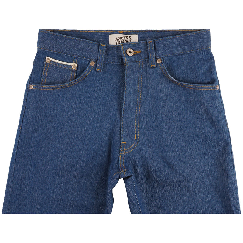 Max - Island Blue Stretch Selvedge - front