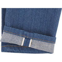 Max - Island Blue Stretch Selvedge - hem
