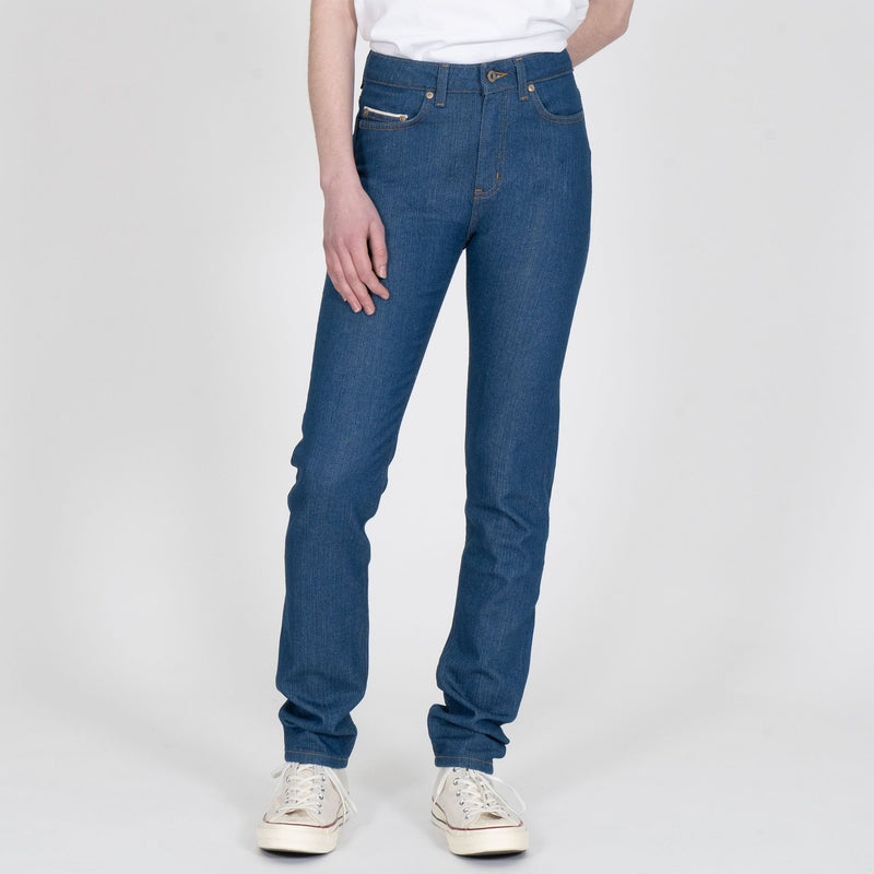 High Skinny - Island Blue Stretch Selvedge - front shot