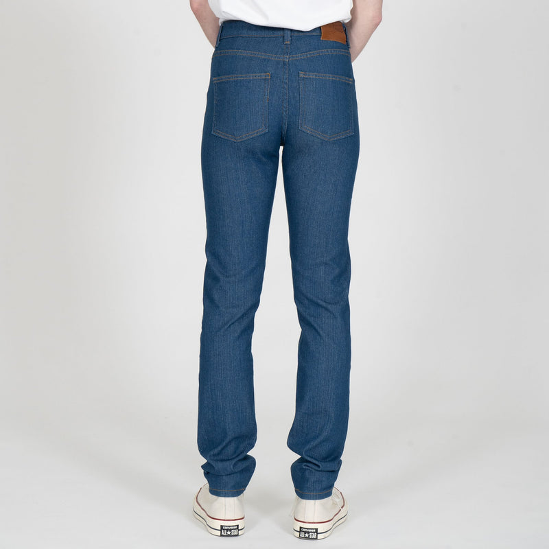 High Skinny - Island Blue Stretch Selvedge - back shot