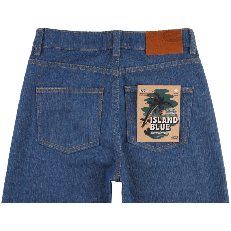 High Skinny - Island Blue Stretch Selvedge - back