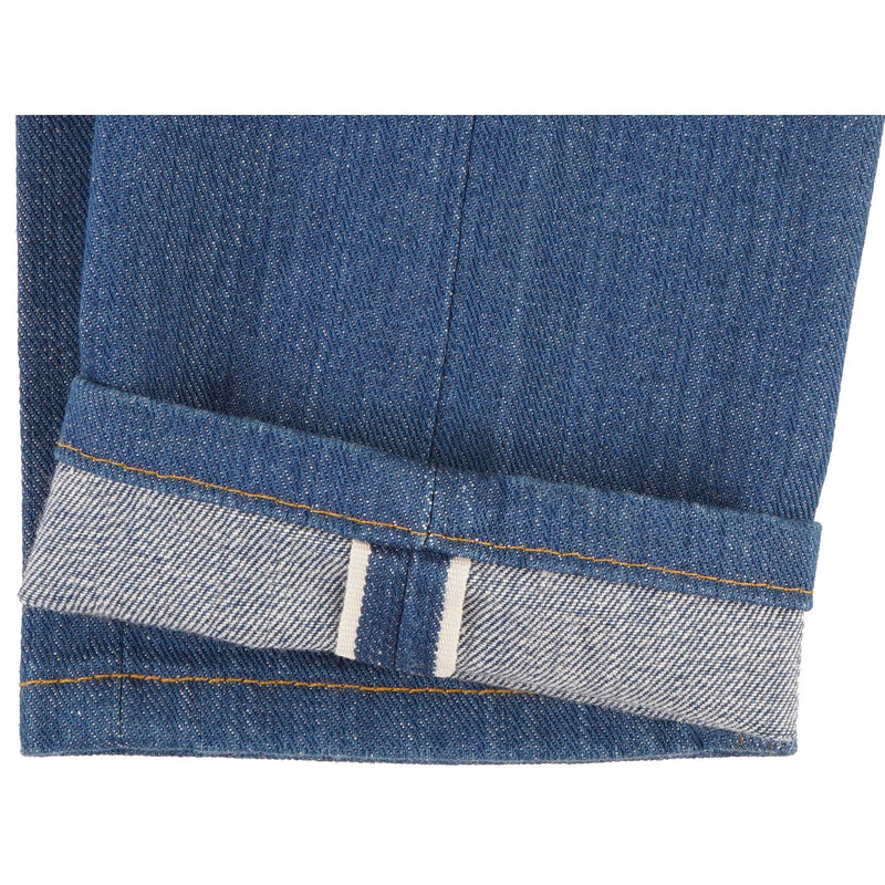 High Skinny - Island Blue Stretch Selvedge - hem