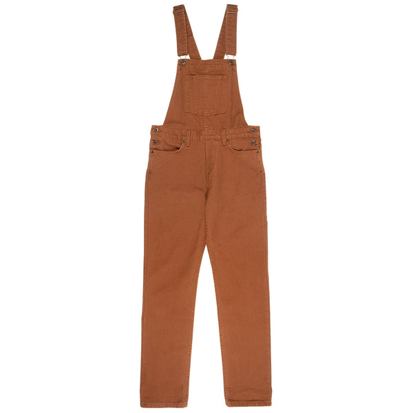 Women's - Straight Leg Overalls - Brick Canvas | Naked & Famous Denim