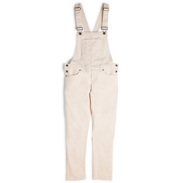 Women's - Straight Leg Overalls - Natural Seed Denim