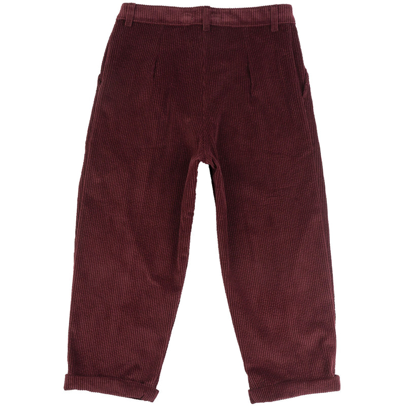 Ridge Pant-Seersucker Corduroy-Burgundy - back