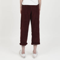 Ridge Pant - Seersucker Corduroy - Burgundy - back