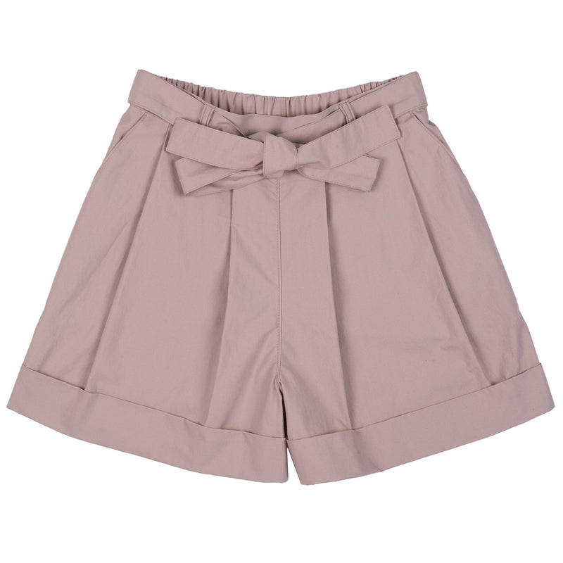 Wide Cuffed Short - Cotton Typewriter - Blush