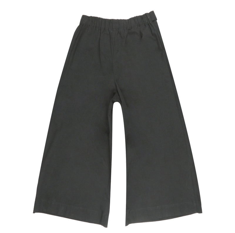 Women's - Wide Pants - Rinsed Oxford - Charcoal