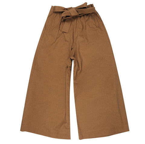 Women's - Wide Pants - Rinsed Oxford - Camel