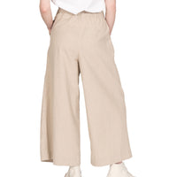 Wide Pant - Cotton / Linen Canvas - Oatmeal - back shot