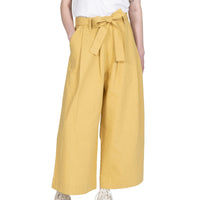 Wide Pant - Cotton / Linen Canvas - Yellow - front shot