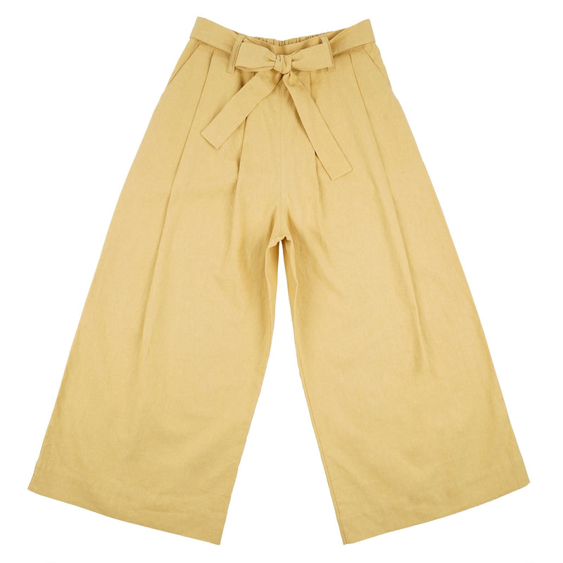 Wide Pant - Cotton / Linen Canvas - Yellow - front