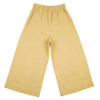 Wide Pant - Cotton / Linen Canvas - Yellow - back
