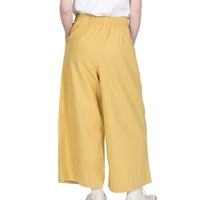 Wide Pant - Cotton / Linen Canvas - Yellow - back shot