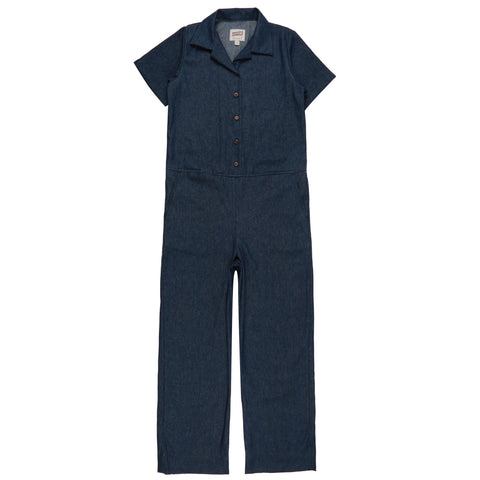 Women's - Jumpsuit - 7oz Dark Indigo Denim