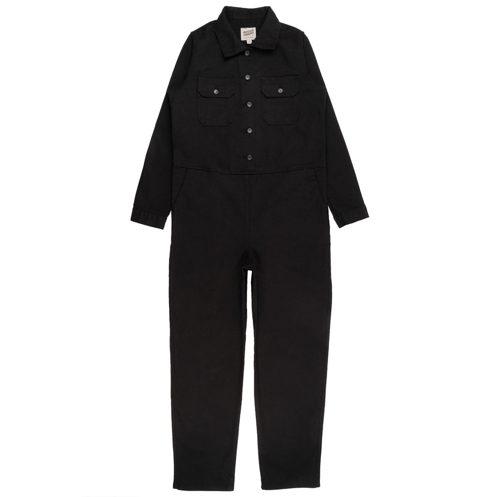 Women's Canvas Coverall Black - front