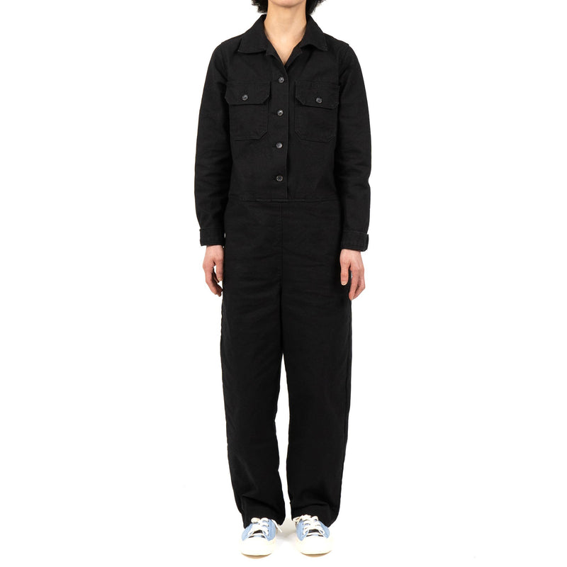 Women's - Coverall - Black Canvas - model front