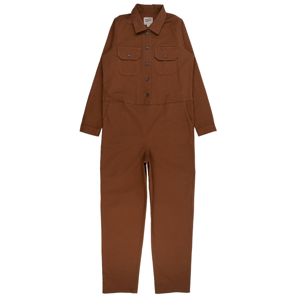 Women's Canvas Coverall Brick - front