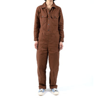 Women's - Coverall - Brick Canvas - model front