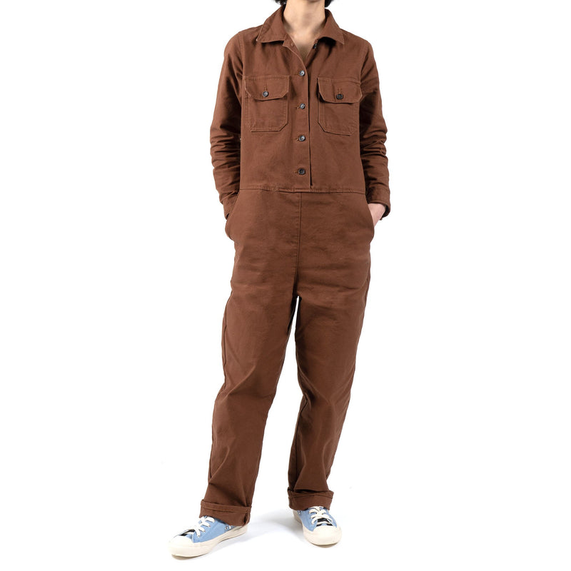Women's - Coverall - Brick Canvas - model front 2