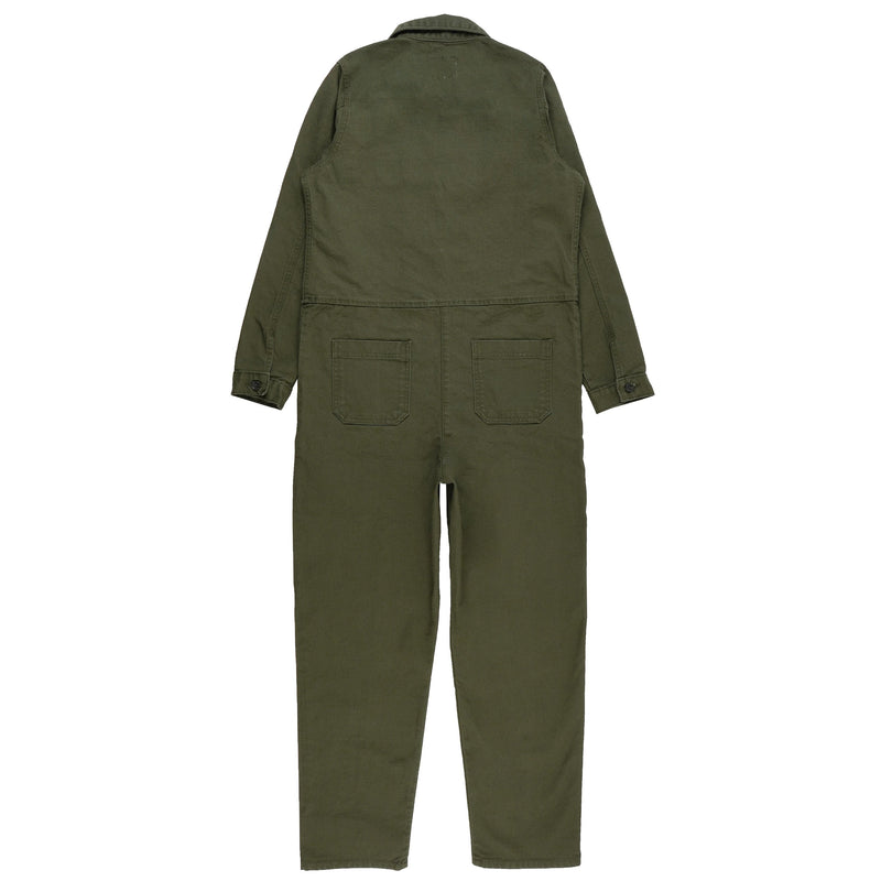 Women's - Coverall - Green Canvas - back