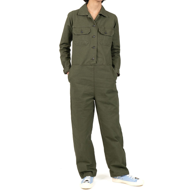 Women's - Coverall - Green Canvas - model front 2
