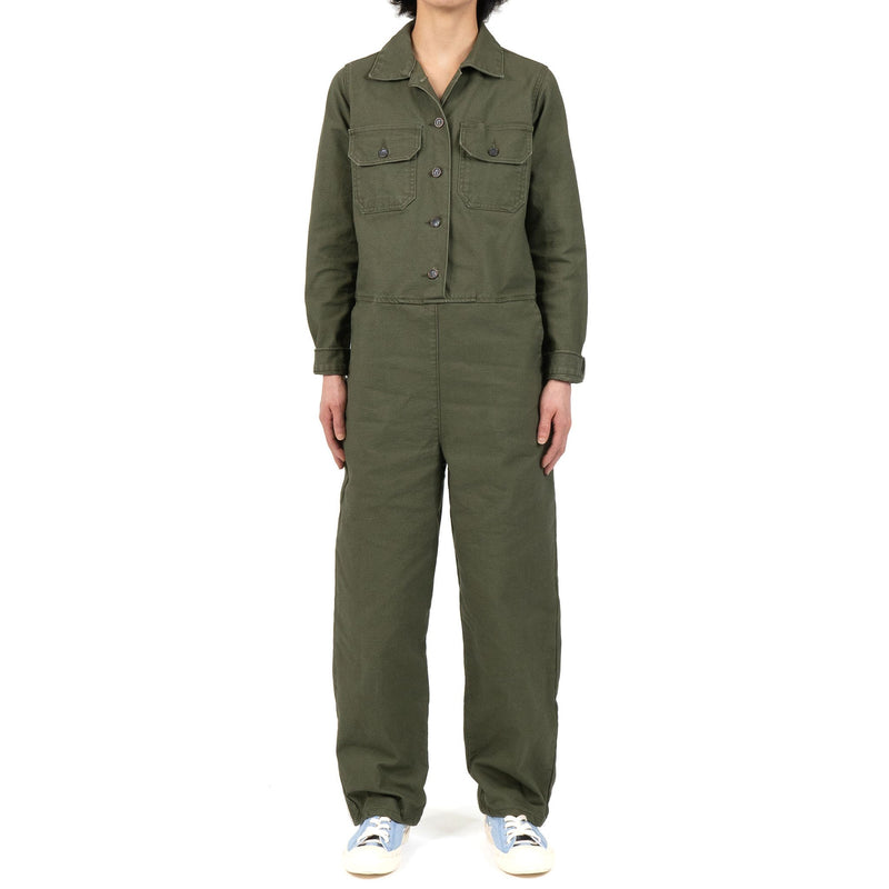 Women's - Coverall - Green Canvas - model front