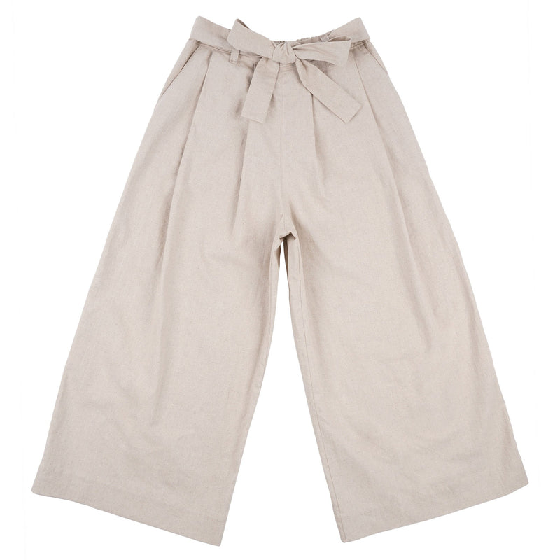Wide Pant - Cotton / Linen Canvas - Oatmeal - front