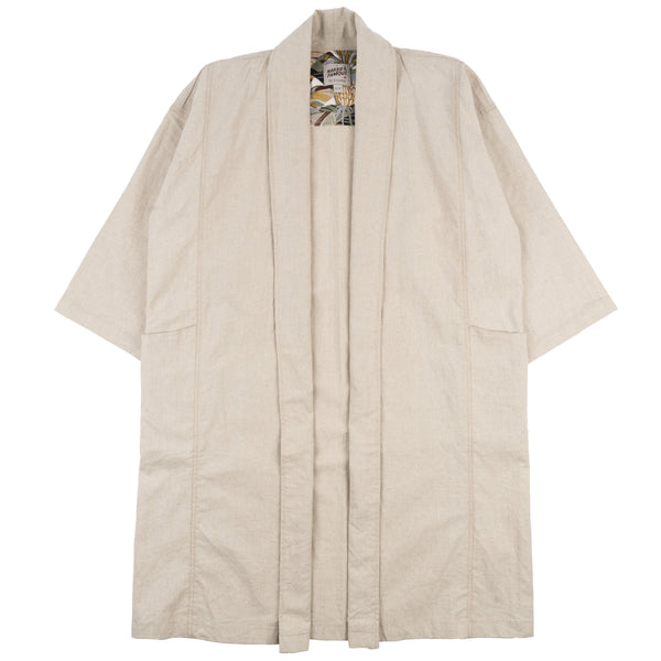 Overcoat - Cotton / Linen Canvas - Oatmeal - front