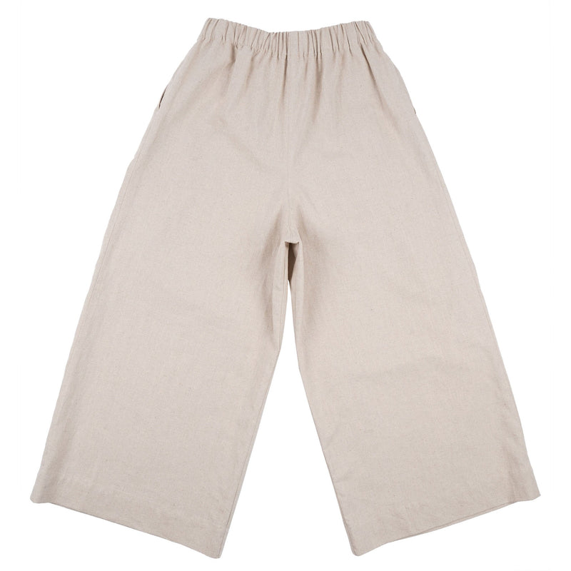 Wide Pant - Cotton / Linen Canvas - Oatmeal - back