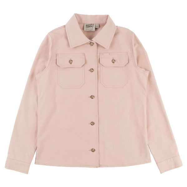 Women's Utility Shirt - Soft Flannel - Blush - front