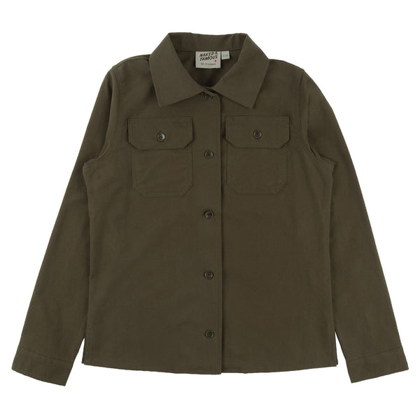 Women's Utility Shirt - Soft Flannel - Green - Front